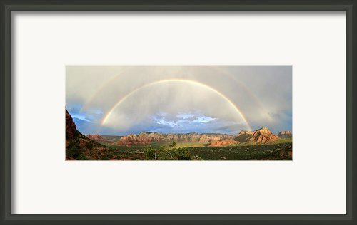 Double Rainbow Over Sedona Framed Print By David Sunfellow