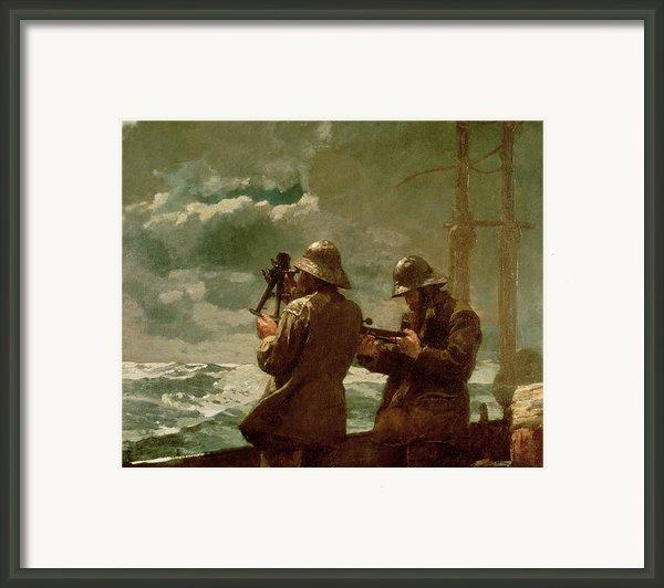 Eight Bells Framed Print By Winslow Homer