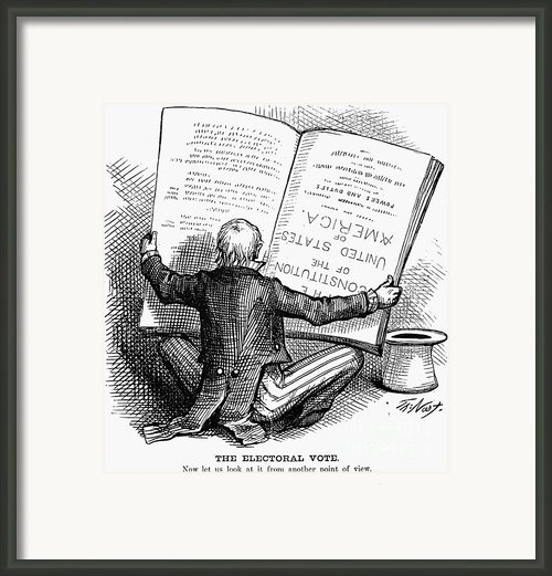 Election Cartoon, 1876 Framed Print By Granger