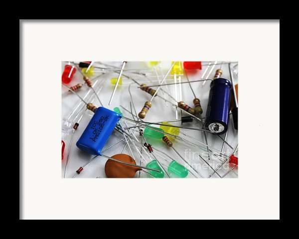 Electronic Components Framed Print By Photo Researchers, Inc.