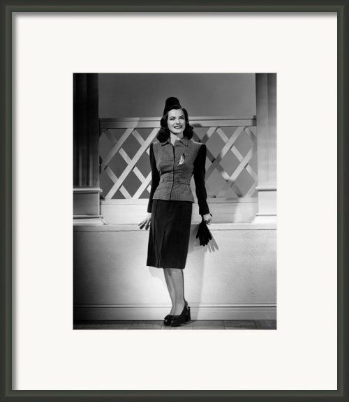 Ella Raines, 1944 Framed Print By Everett