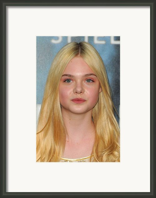 Elle Fanning At Arrivals For Super 8 Framed Print By Everett