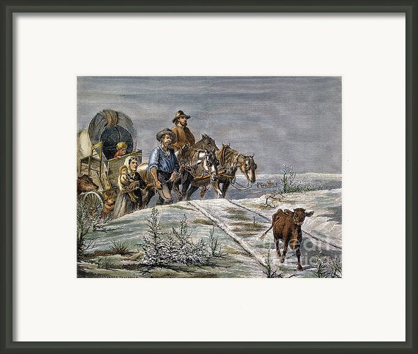 Emigrants, 1874 Framed Print By Granger