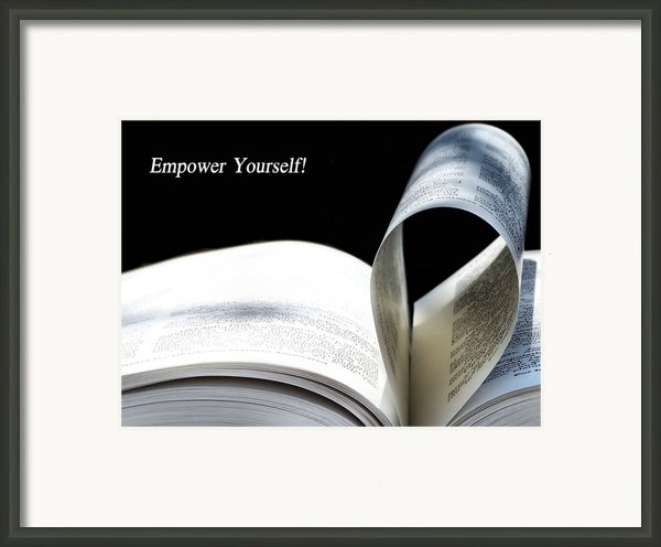 Empower Yourself Framed Print By Karen M Scovill