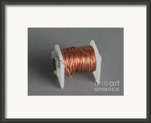 Enamel Coated Copper Wire Framed Print By Photo Researchers