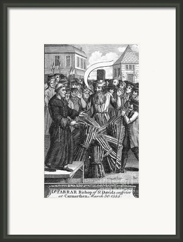 England: Burning At Stake Framed Print By Granger