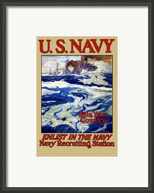 Enlist In The Navy Framed Print By War Is Hell Store