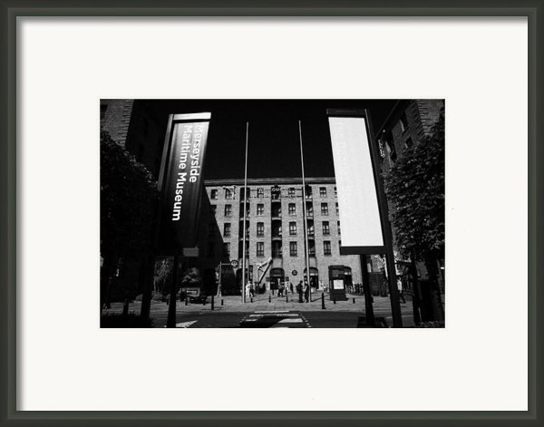 Entrance To The Albert Dock And Beatles Museum Liverpool Merseyside England Uk Framed Print By Joe Fox
