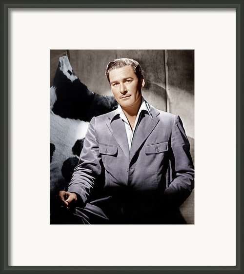 Errol Flynn, Ca. 1940s Framed Print By Everett