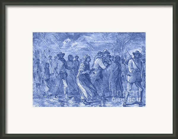 Escaping To Underground Railroad Framed Print By Photo Researchers