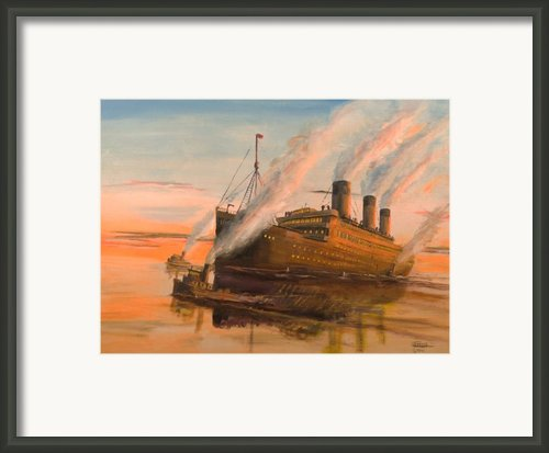 Evening Departure Framed Print By Christopher Jenkins