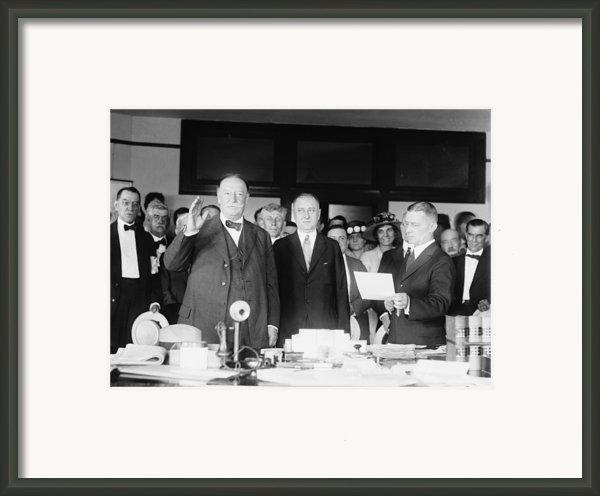 Ex-president William Howard Taft Framed Print By Everett