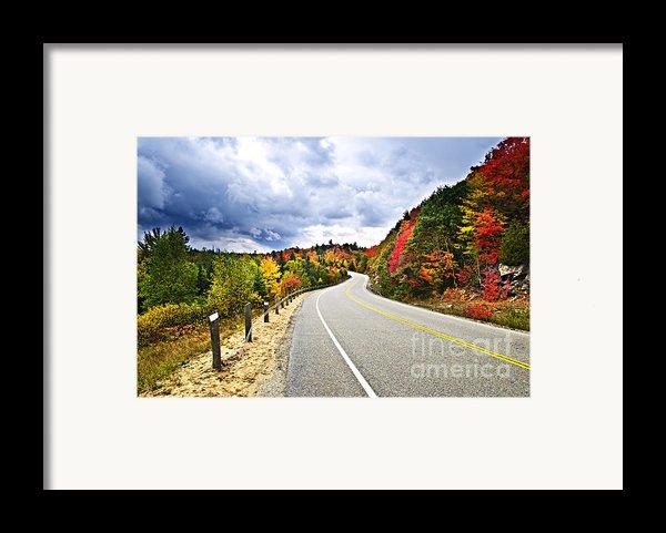 Fall Highway Framed Print By Elena Elisseeva