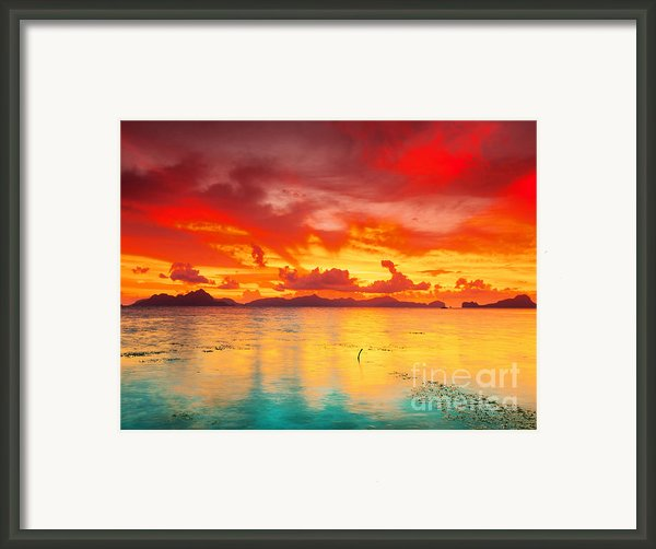Fantasy Sunset Framed Print By Mothaibaphoto Prints