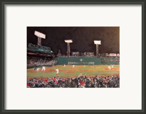 Fenway Night Framed Print By Romina Diaz-brarda