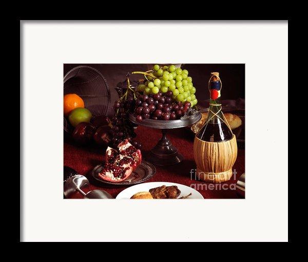 Festive Dinner Still Life Framed Print By Oleksiy Maksymenko