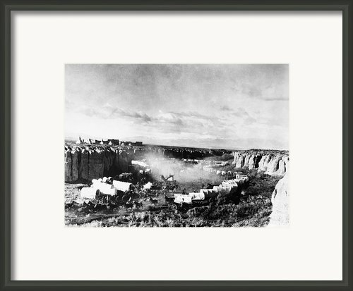 Film: The Covered Wagon Framed Print By Granger