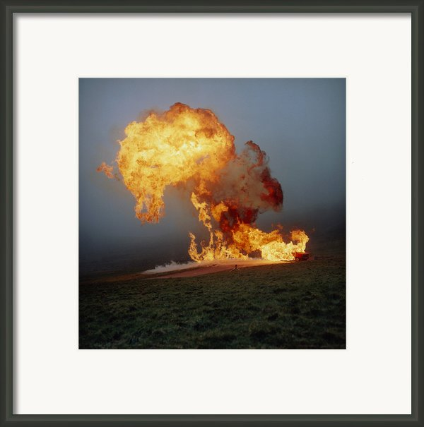 Fireball From Liquid Petroleum Gas Explosion Framed Print By Crown Copyrighthealth & Safety Laboratory