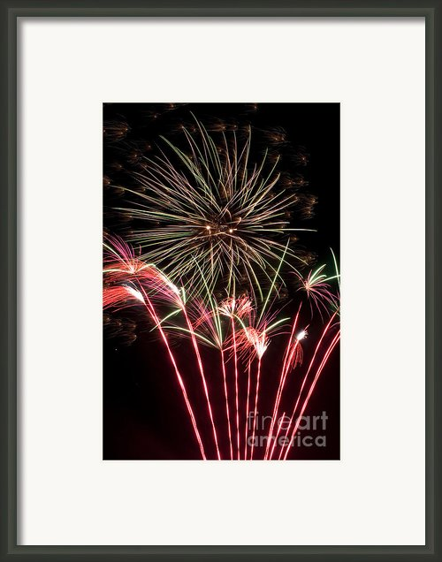 Fireworks Framed Print By Cindy Singleton