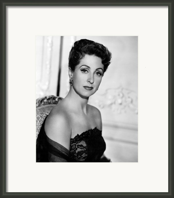 Five Fingers, Danielle Darrieux, 1952 Framed Print By Everett