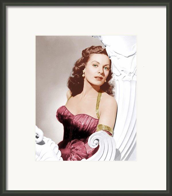 Flame Of Araby, Maureen Ohara, 1951 Framed Print By Everett