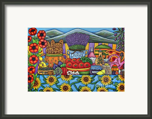 Flavours Of Provence Framed Print By Lisa  Lorenz