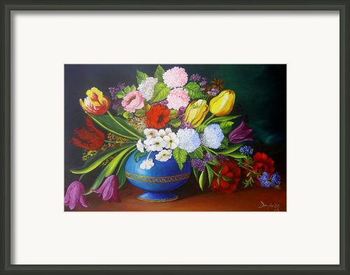 Flowers In A Vase Framed Print By Dominica Alcantara
