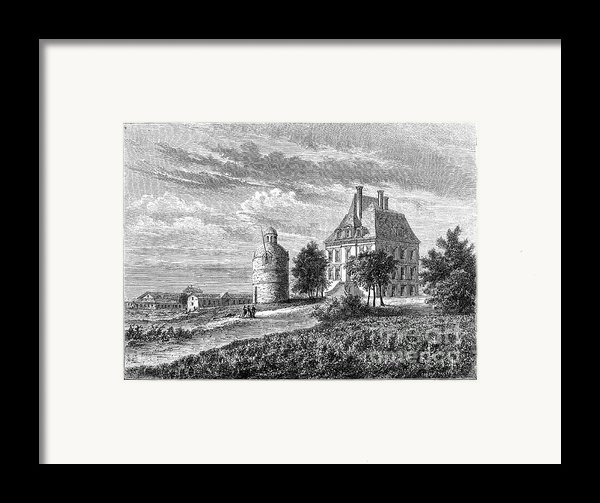 France: Wine Ch�teau, 1868 Framed Print By Granger
