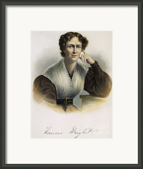 Frances Wright (1795-1852) Framed Print By Granger