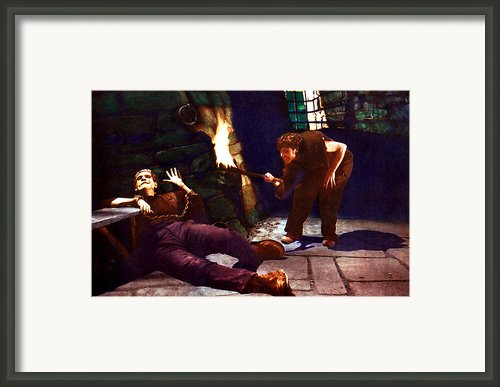 Frankenstein, From Left Boris Karloff Framed Print By Everett