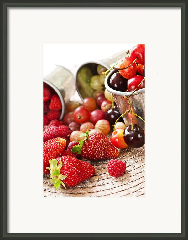 Fruits And Berries Framed Print By Elena Elisseeva