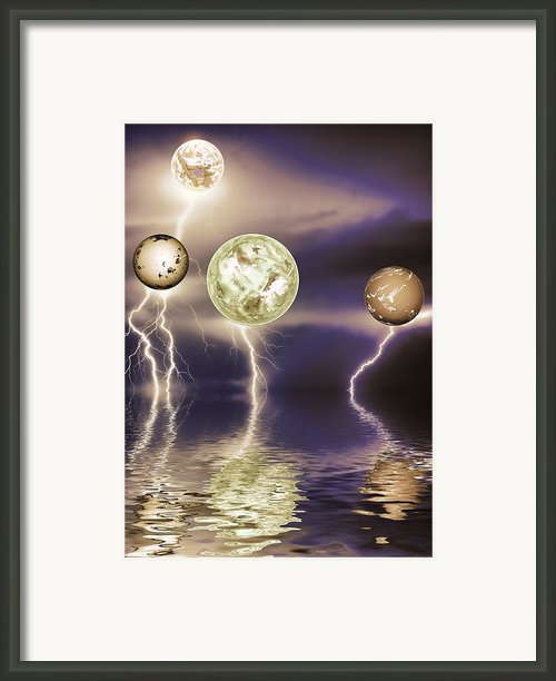 Galactic Storm Framed Print By Sharon Lisa Clarke