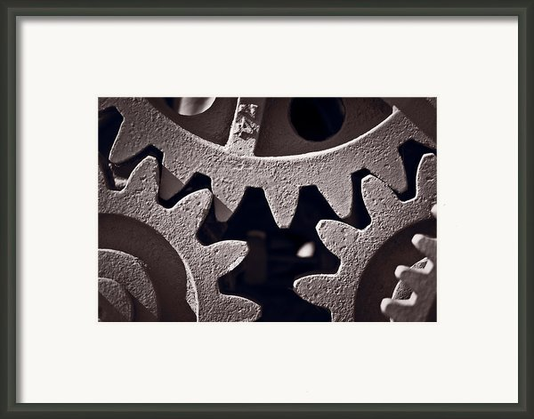 Gears Number 2 Framed Print By Steve Gadomski