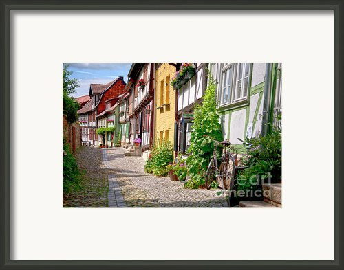 German Old Village Quedlinburg Framed Print By Heiko Koehrer-wagner
