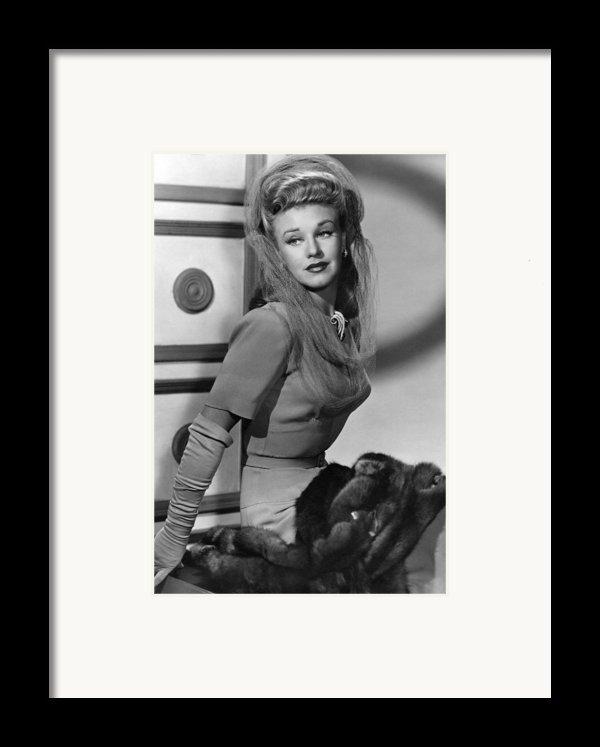 Ginger Rogers, Ca. 1943 Framed Print By Everett