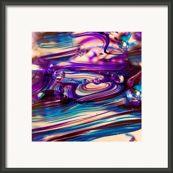 Glass Macro Ii Framed Print By David Patterson