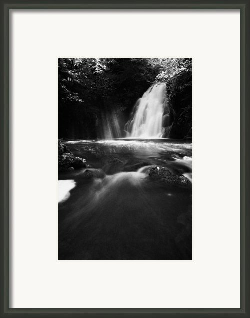 Gleno Or Glenoe Waterfall County Antrim Framed Print By Joe Fox