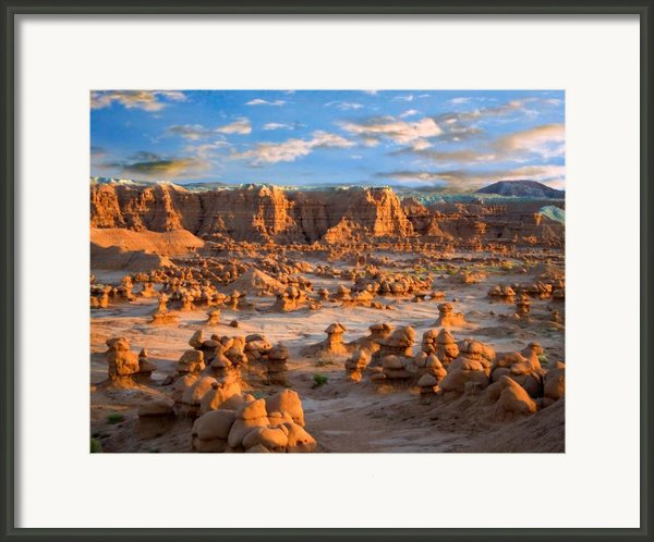 Goblin Valley State Park Utah Framed Print By Utah Images