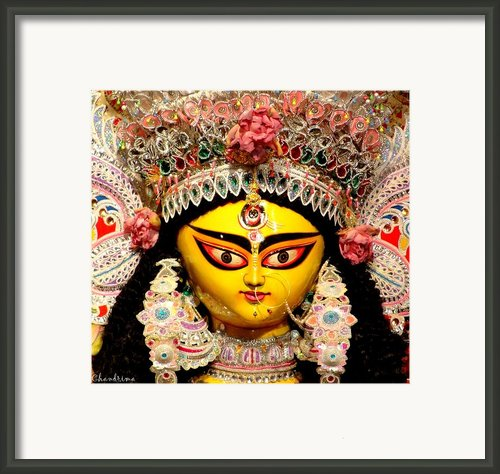 Goddess Durga Framed Print By Chandrima Dhar
