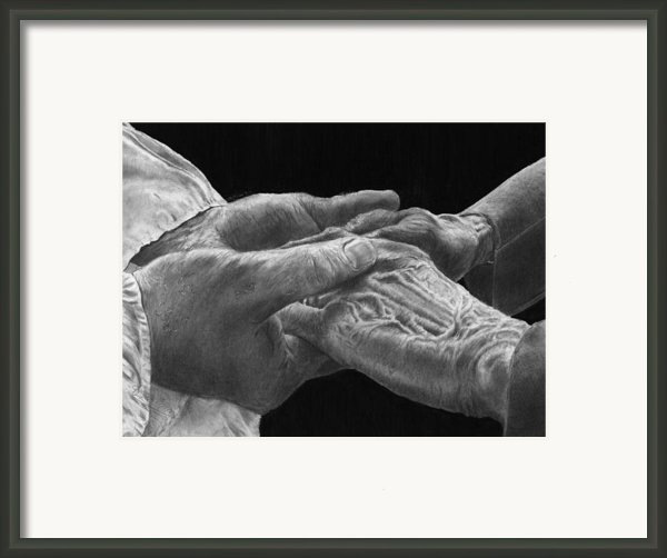 Hands Of Love Framed Print By Jyvonne Inman