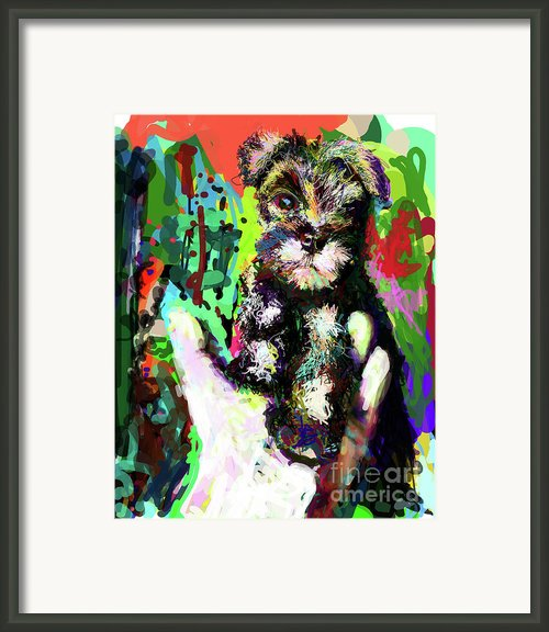Harley In Hand Framed Print By James Thomas