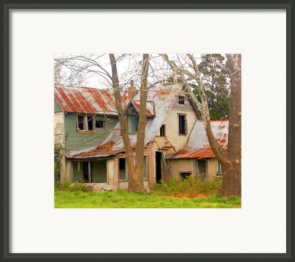 Haunted House Framed Print By Marty Koch