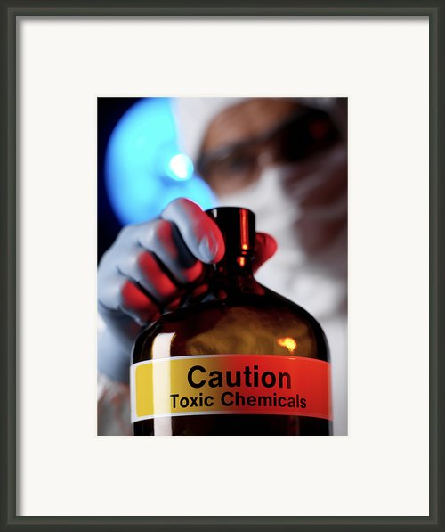 Hazardous Chemical Framed Print By Tek Image