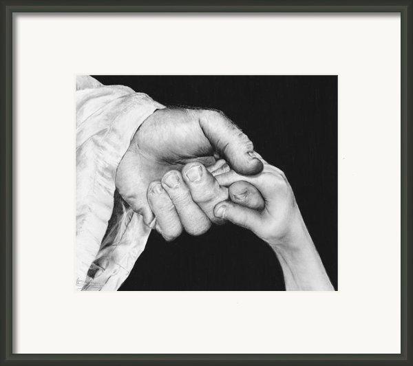 He Leadeth Me Framed Print By Jyvonne Inman