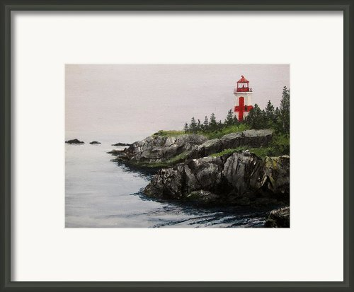Head Harbour Lighthouse Framed Print By Jack Skinner