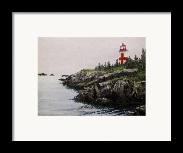 Head Harbour Lighthouse Framed Print By Jack Skinner