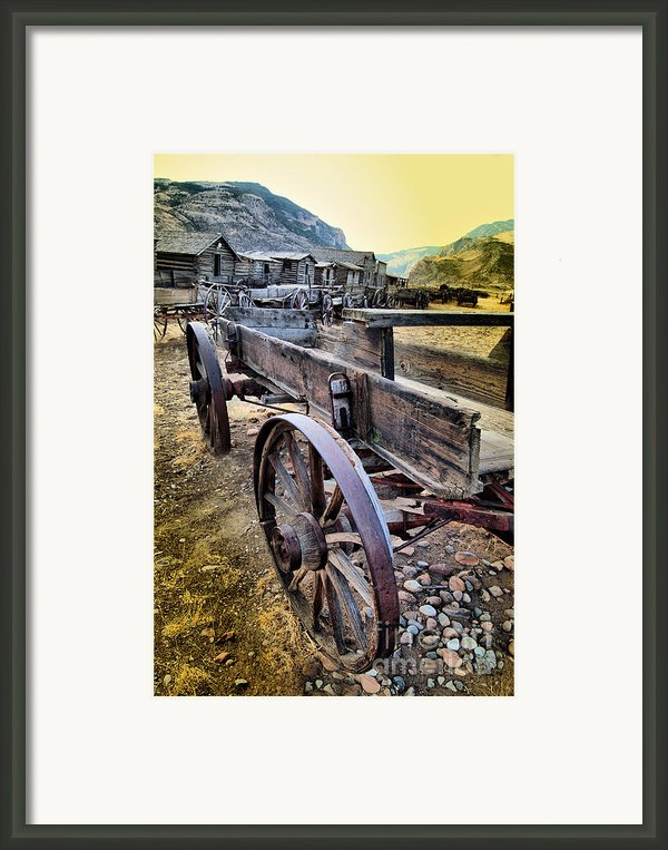 Headed To Town Framed Print By Nena Trapp