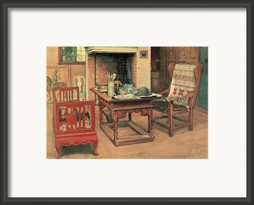 Hide And Seek Framed Print By Carl Larsson