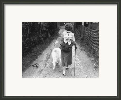 Hitching A Ride Framed Print By Fox Photos