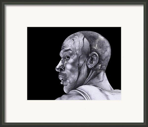 Homage To Jordan Framed Print By Lee Appleby